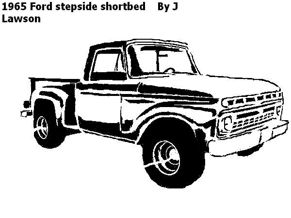 1965 ford shortbed  pattern - transportation