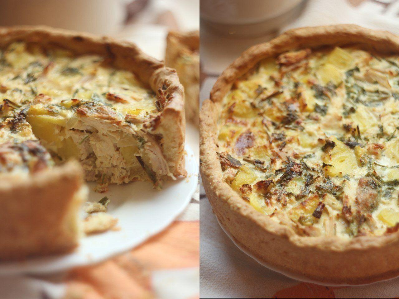 пирог с картошкой с фаршем в духовке рецепт с фото