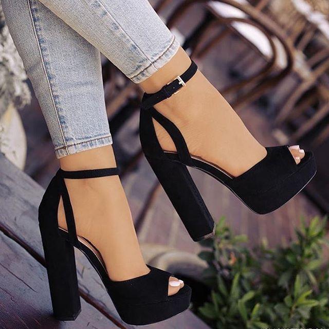 Heels tacones negros beauty  cesia7171  278700fd71c