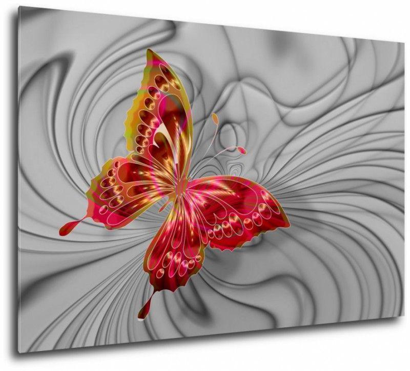 Czerwony Motyl Obraz Na Sciane Brooch Decor Home Decor