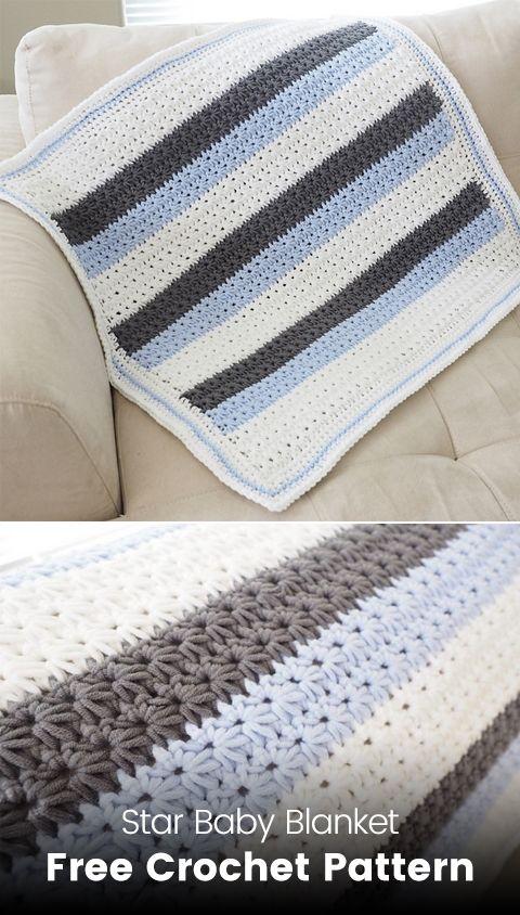 Star Baby Blanket Free Crochet Pattern #crochet #crafts #homedecor ...
