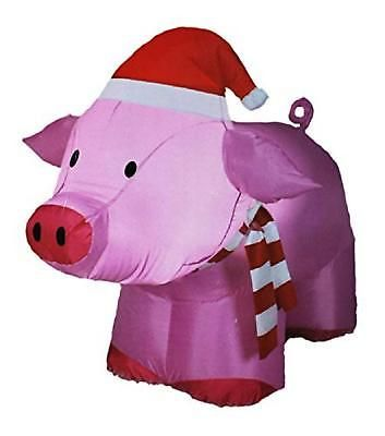 christmas decoration inflatable outdoor pig 3ft airblown holiday yard decor new - Pig Christmas Decorations Outdoors