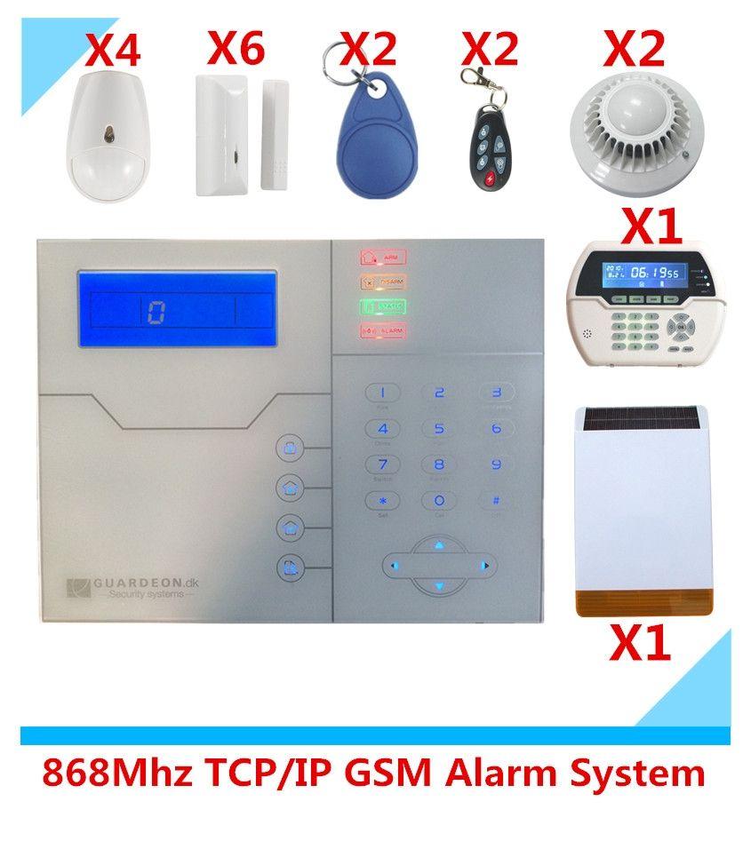 2017 Advanced TCP/IP Burglar GSM Alarm System Security Home Alarm ...