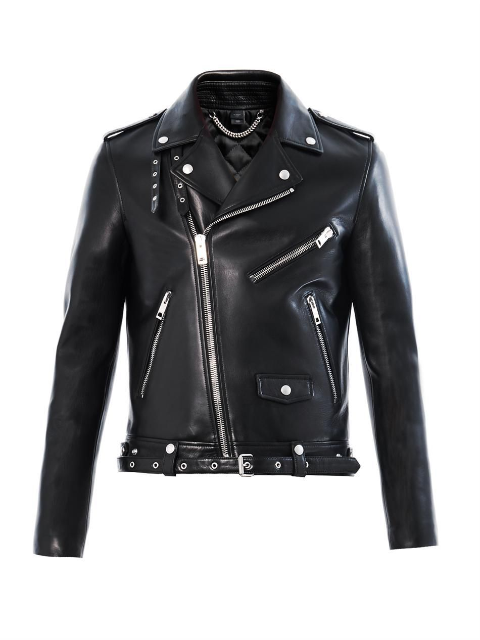 3 959 Burberry Prorsum Leather Biker Jacket Jackets Men Fashion Black Leather Biker Jacket Big Men Fashion [ 1267 x 950 Pixel ]