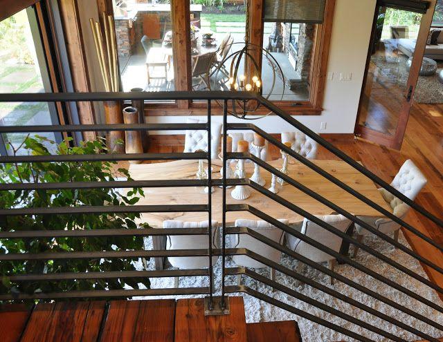 Industrial Stair Railing Idea   Escadas interiores ...