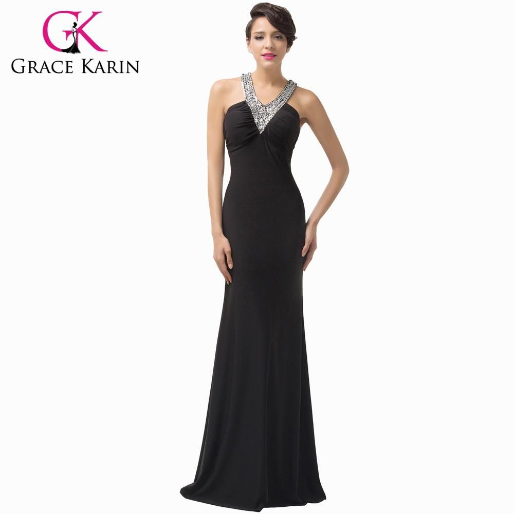 Sexy Backless Black Sequins Long Women Slim Bodycon Formal Evening Dresses $56.96 => Save up to 60% and Free Shipping => Order Now! #fashion #woman #shop #diy www.weddress.net/...