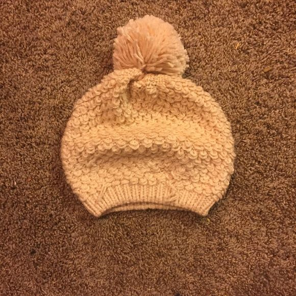 Pink/beige beanie! Perfect for the upcoming fall and winter! In perfect condition, new without tags! Knit and comfortable, and protective against the cold while being cute and fashionable! Jackets & Coats