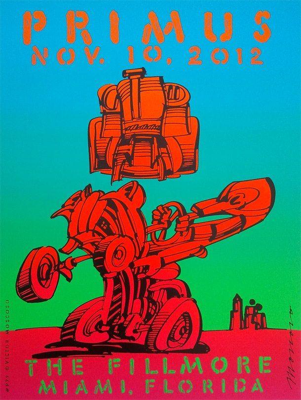 Victor Moscoso - Primus poster | Cartoonists & Animators | Pinterest ...