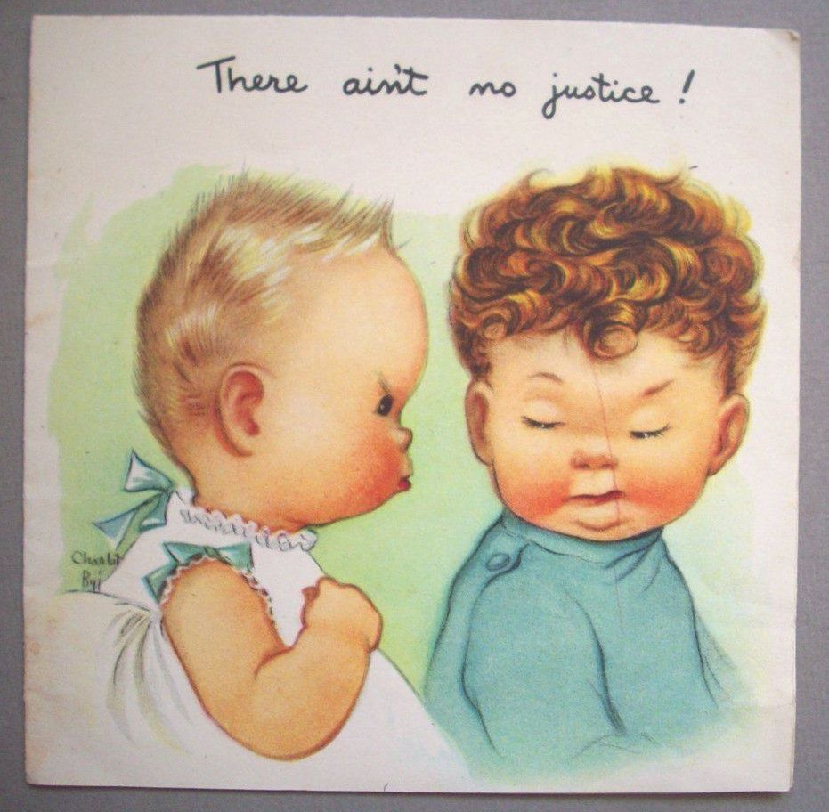 There aint no justice charlot byj birthday vintage greeting card there aint no justice charlot byj birthday vintage greeting card f2 kristyandbryce Image collections
