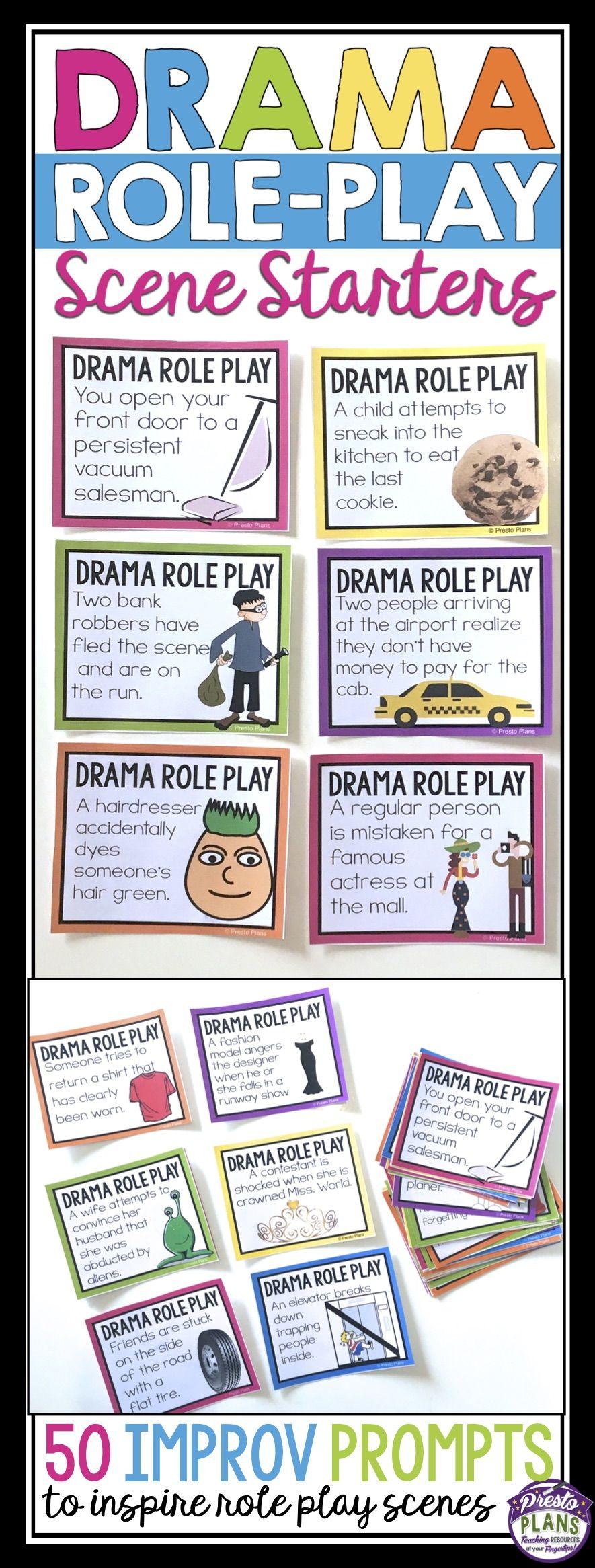 Acting improvisation role play drama scenarios scene