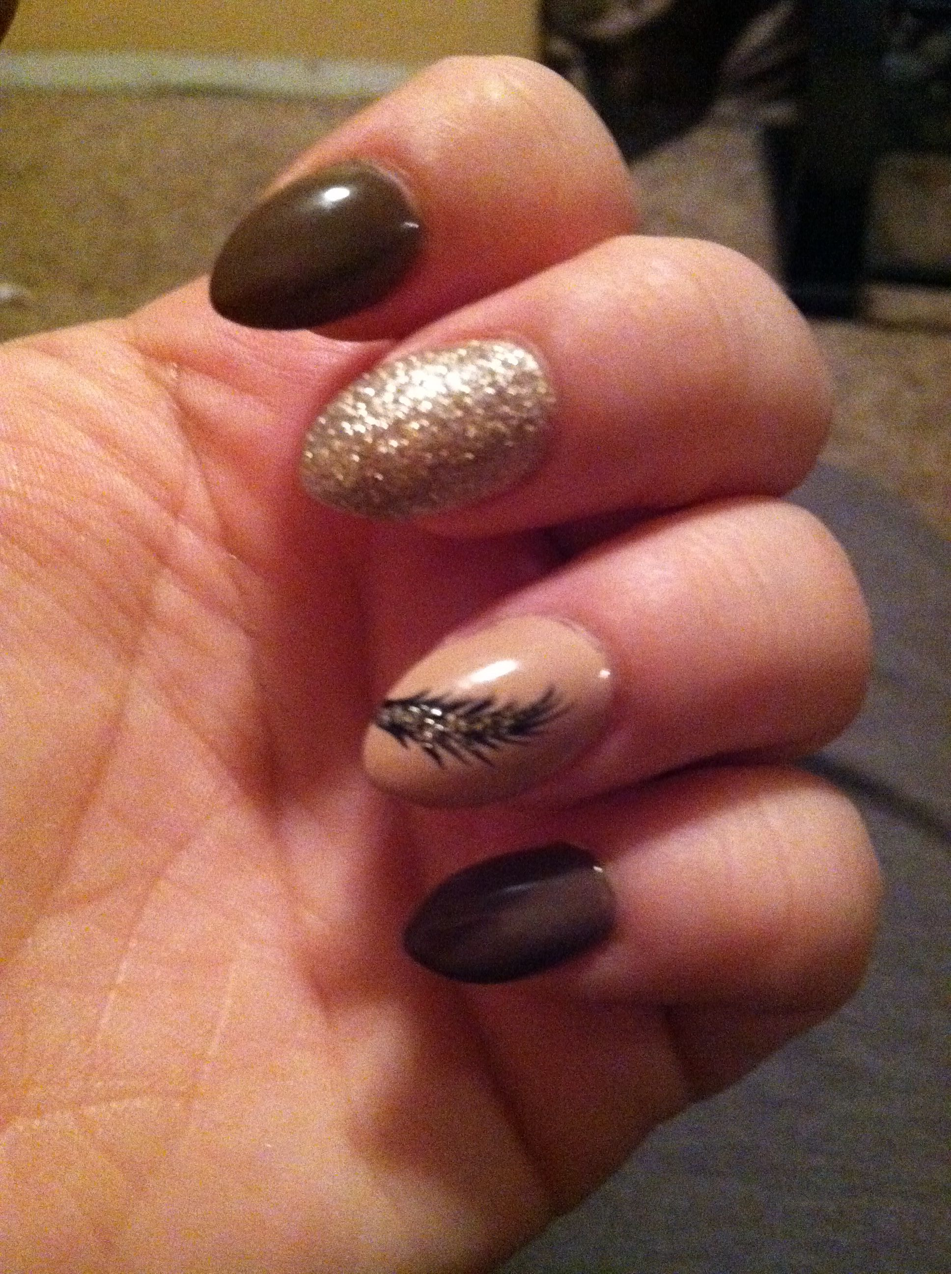 Fall almond shaped nails   Nail shapes, Acrylic nail ...
