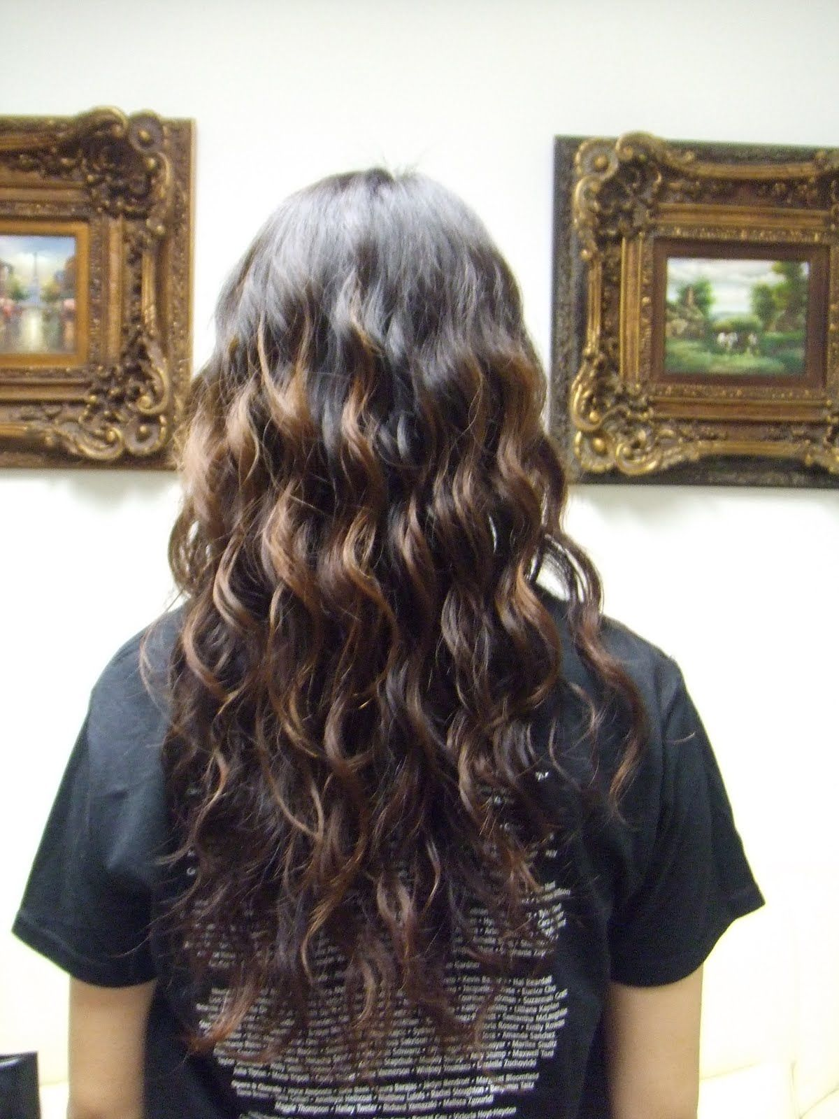 The Beauty Owl Feathers Haircut Before And After Transformation Hair Styles Long Hair Perm Permed Hairstyles