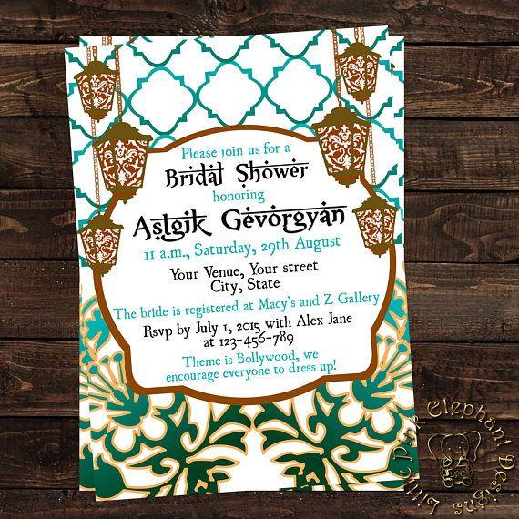 f45640adf468 Muslim bridal shower invitation- Indian bridal shower invitation ...
