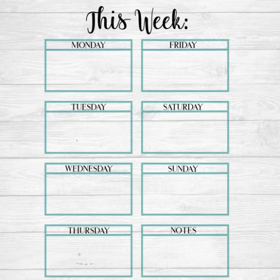 schedule calendar template