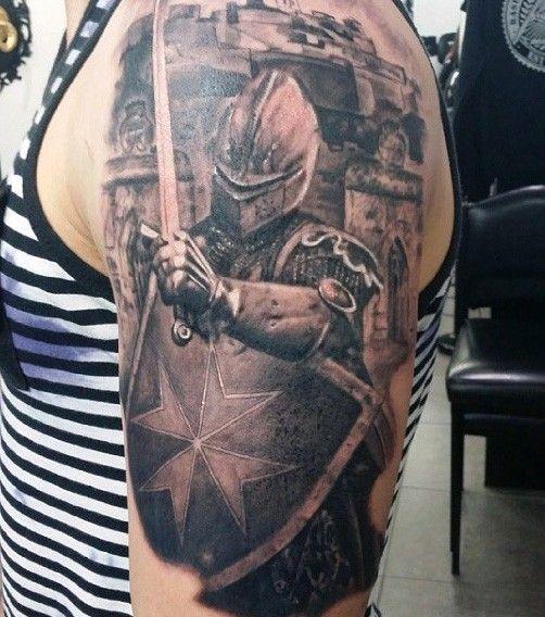 medieval knight tattoos men half sleeve tattoo pinterest knight tattoo tattoo and tatting. Black Bedroom Furniture Sets. Home Design Ideas