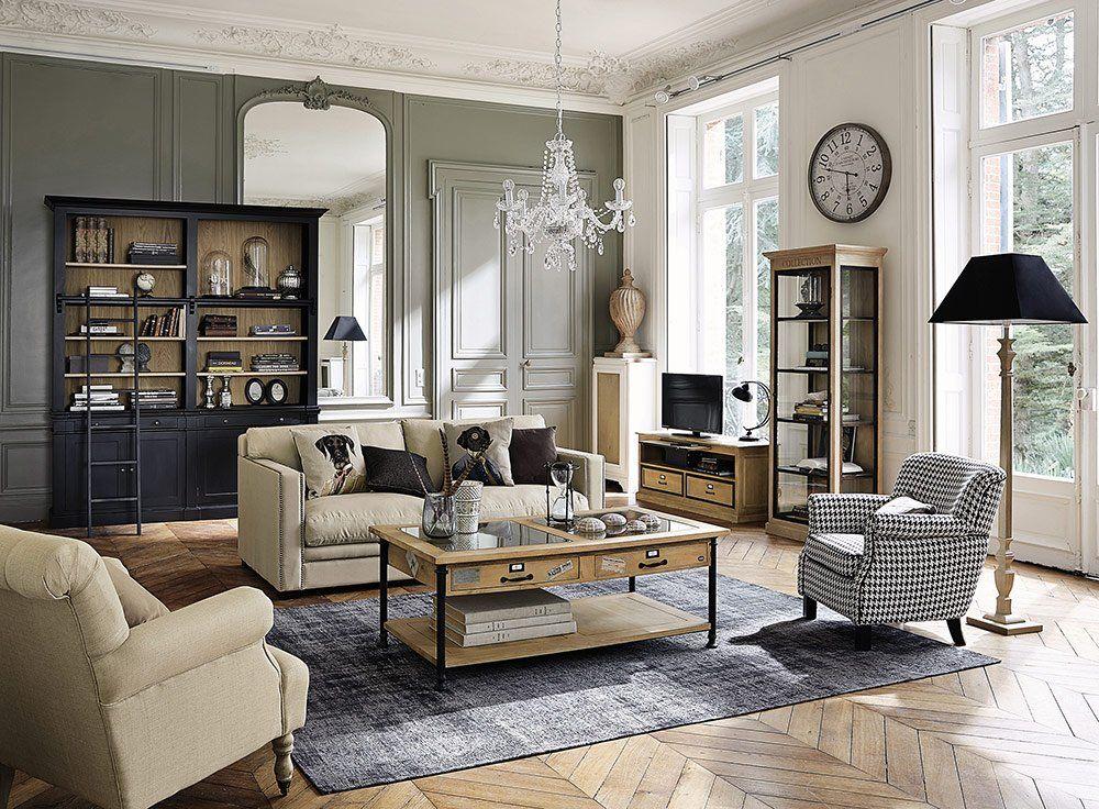 Un Salon D Inspiration Rustique Chic Meuble Deco Deco Salon Deco Interieure