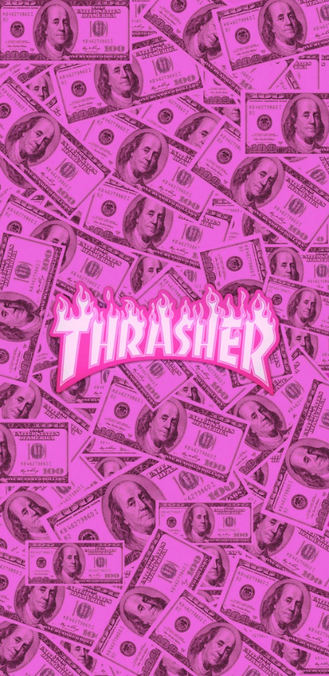 Pink Money Thrasher Background Wallpaper Tumblr Dinheiro Rosa Logo Background Plano De F Em 2020 Planos De Fundo Rosas Papel De Parede Planos De Fundo Tumblr
