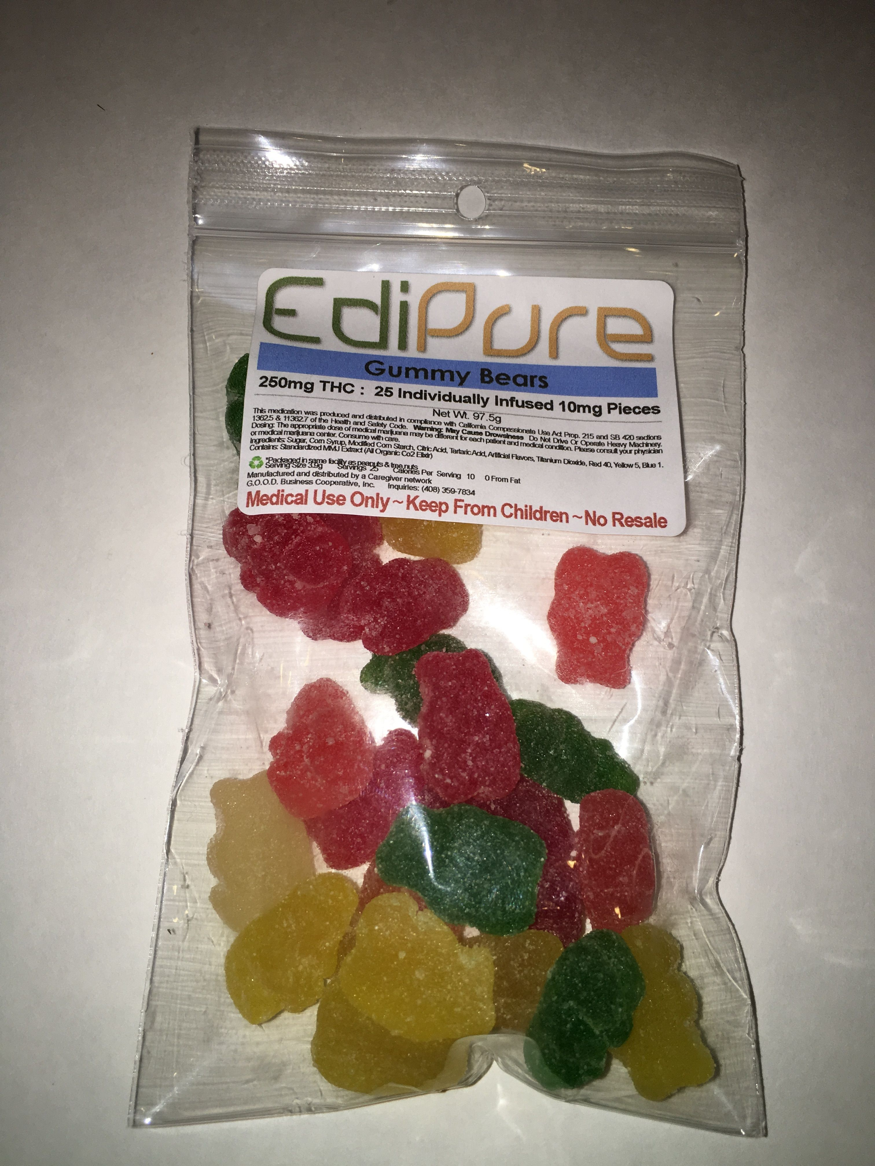Gummie Bears 250mg Fulfill your sweet tooth and medicate