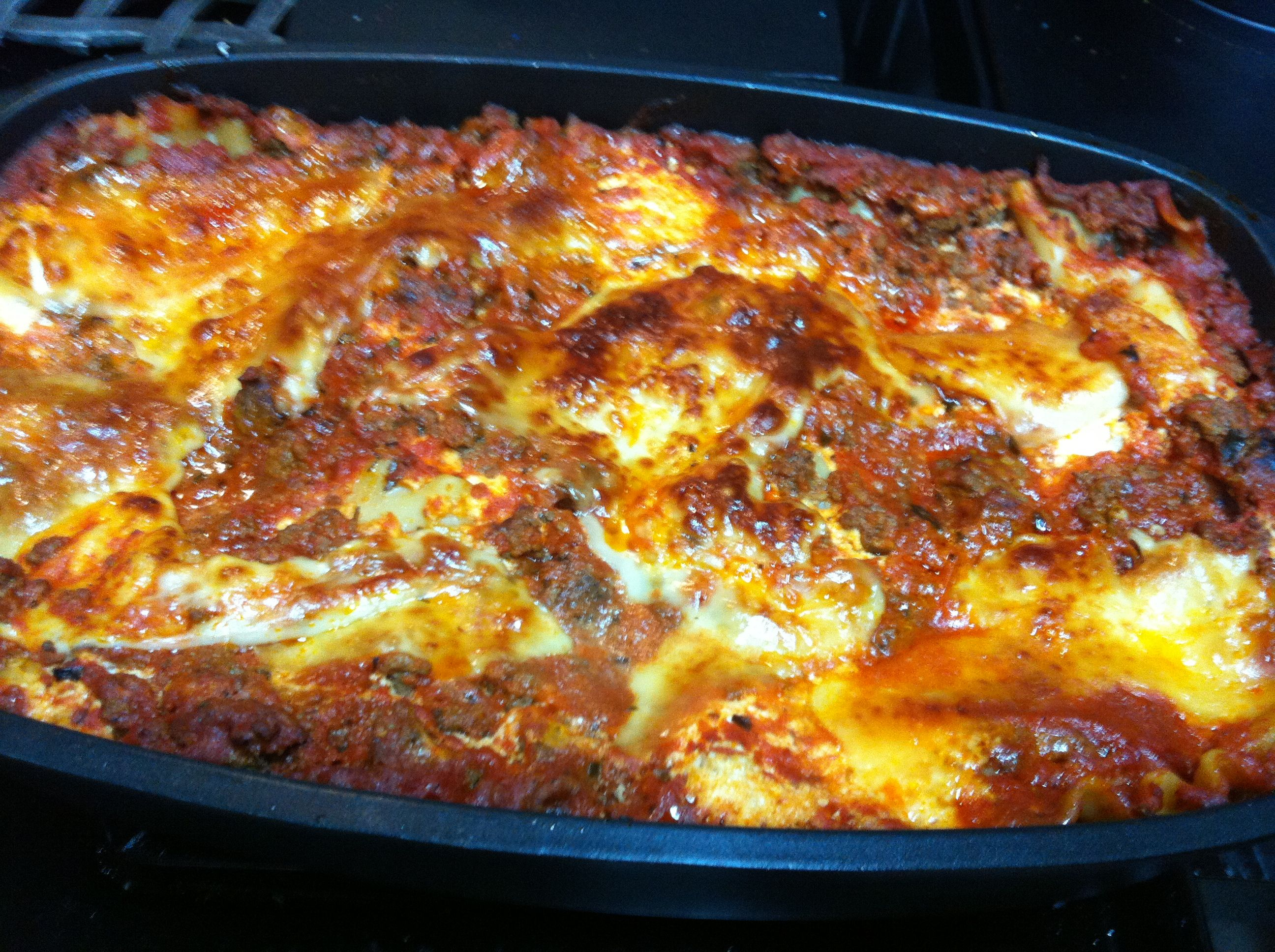 Lasagna In The Covered Roaster With Images Roaster Recipes