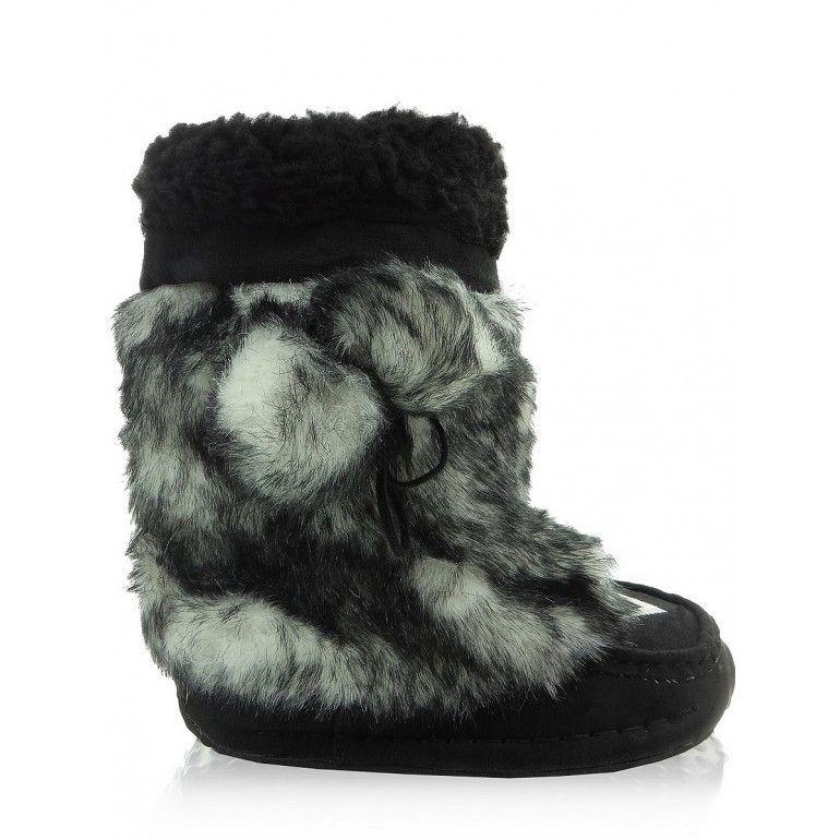 Mulkuki Sniegowce Dzieciece 58812e Czarne Tanie Buty Sklep Immoda Boots Shoes Winter Boot