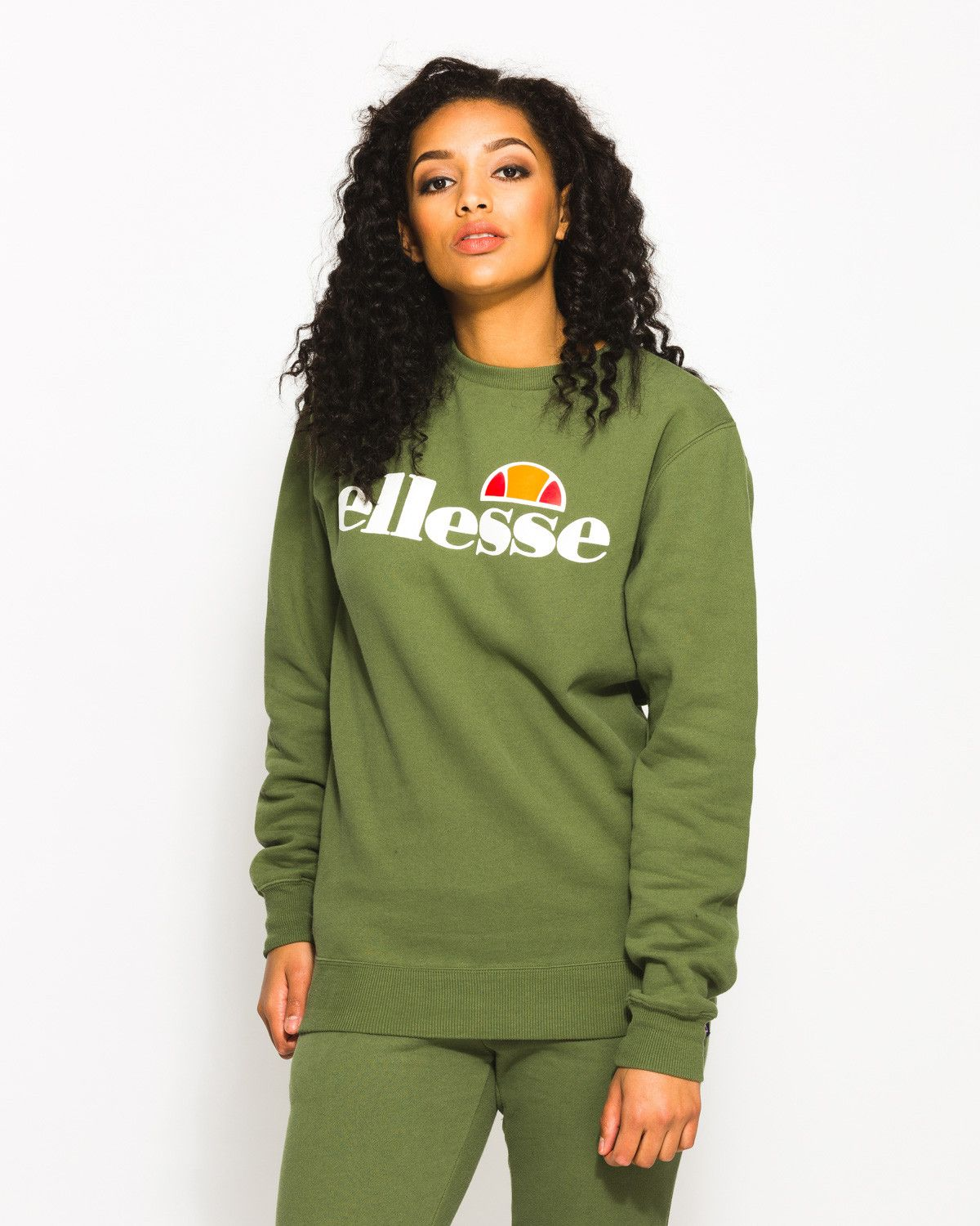 e97ded7c Womens Agata Crew Sweat Green | Free Delivery & Returns ...