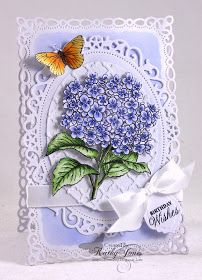 Inspired to Stamp: Hydrangea Birthday Wishes