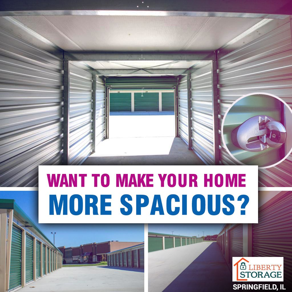 Want to make your home more spacious? Rent a storage unit