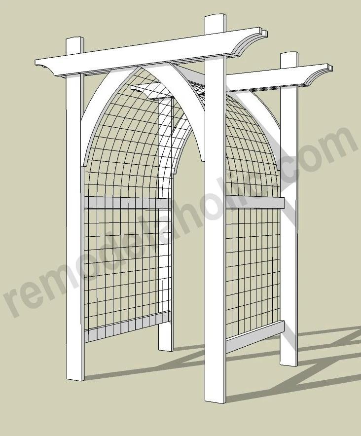 Gothic Arch Garden Arbor And Trellis For Vegetables Or Flowers In 2021 Garden Archway Garden Arbor Arbors Trellis