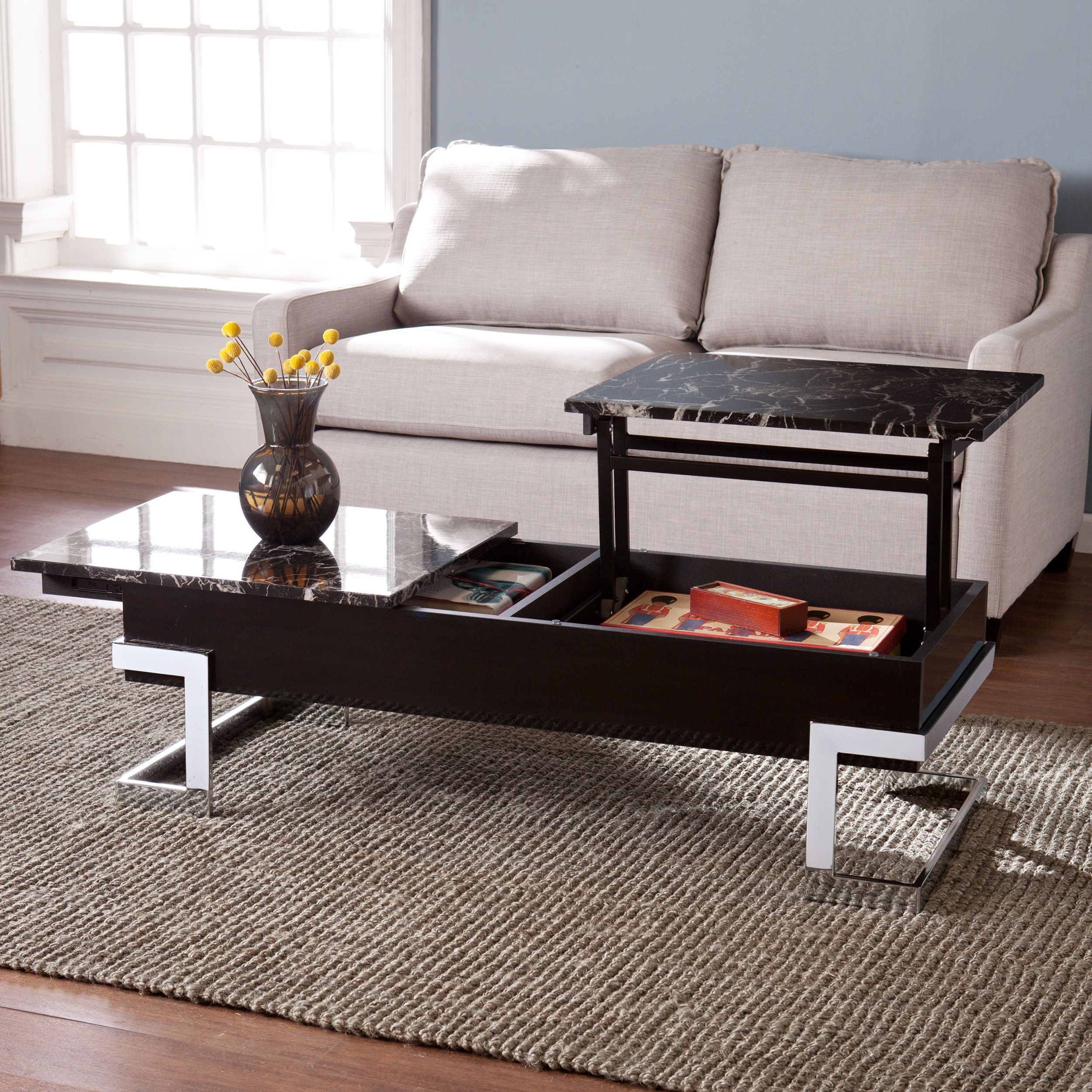 harper blvd talia faux marble lift top coffee cocktail table rh pinterest com