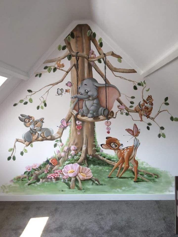 Disney Fototapete für ein Kinderspielzimmer #Disney #wallmurals #Kinderzimmer #disney