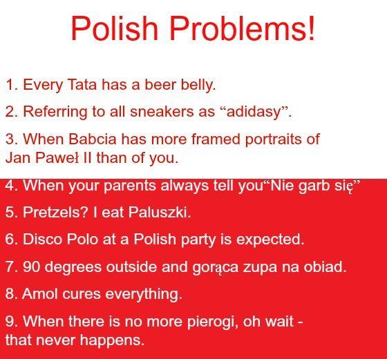 Polish Problems 9 Is My Favorite One Should Never Run Out Of Pierogi Polish Memes Polish Quotes Polish Language