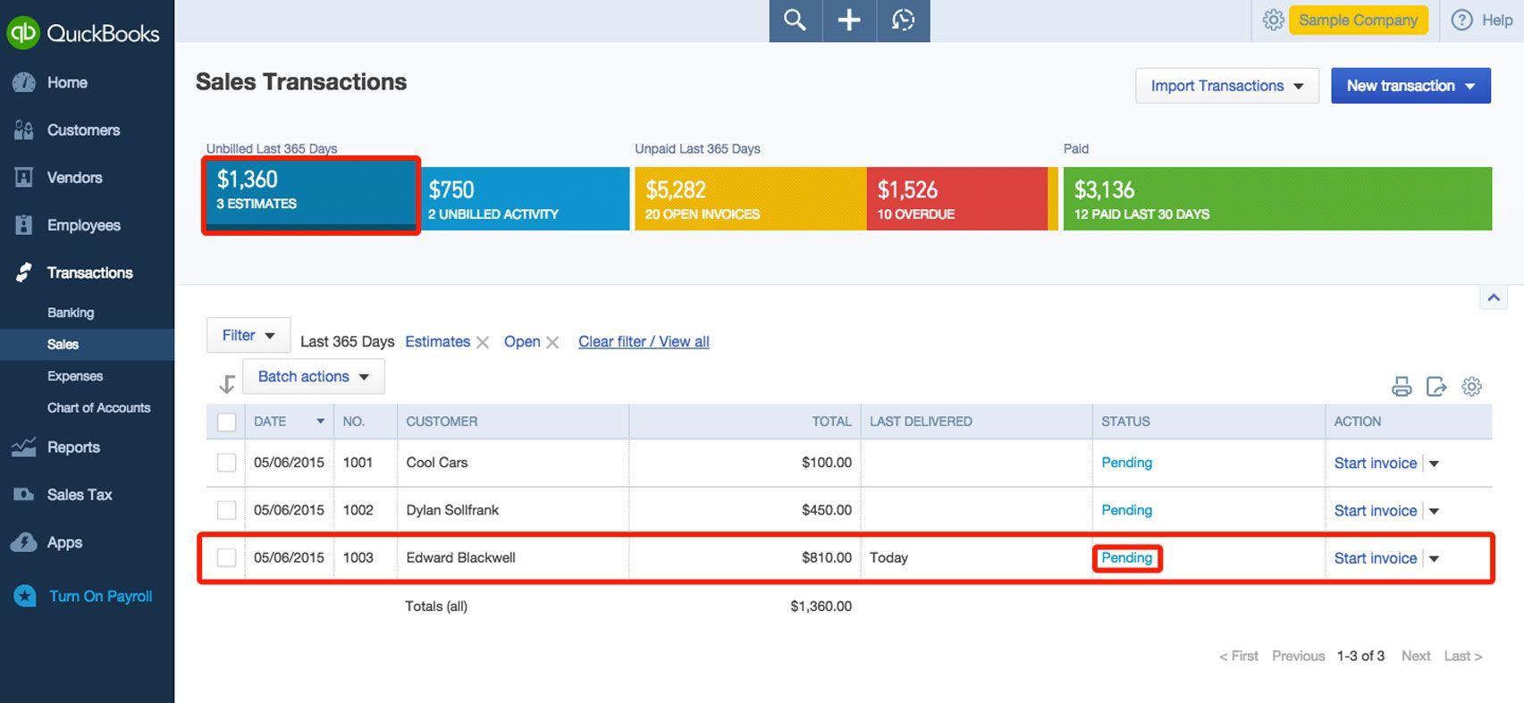 Create Estimates In Qbo Quickbooks Quickbooks Online Estimate