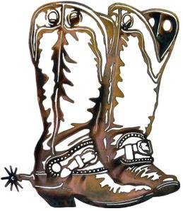 Cowboy Boots 259x300 Clear | Metal tree wall art, Office ...