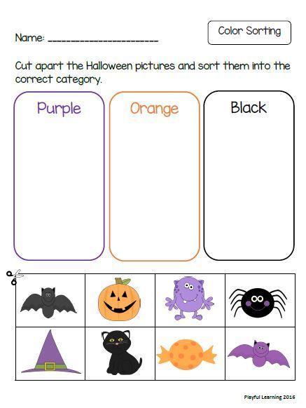 Printable Halloween Worksheets For Preschoolers And Kindergarteners Color Sorting Matchi Halloween Preschool Halloween Worksheets Kids Worksheets Printables Halloween worksheets for preschoolers