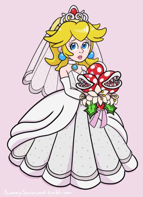 Peach weddings tumblr super mario odyssey for Princess peach wedding dress