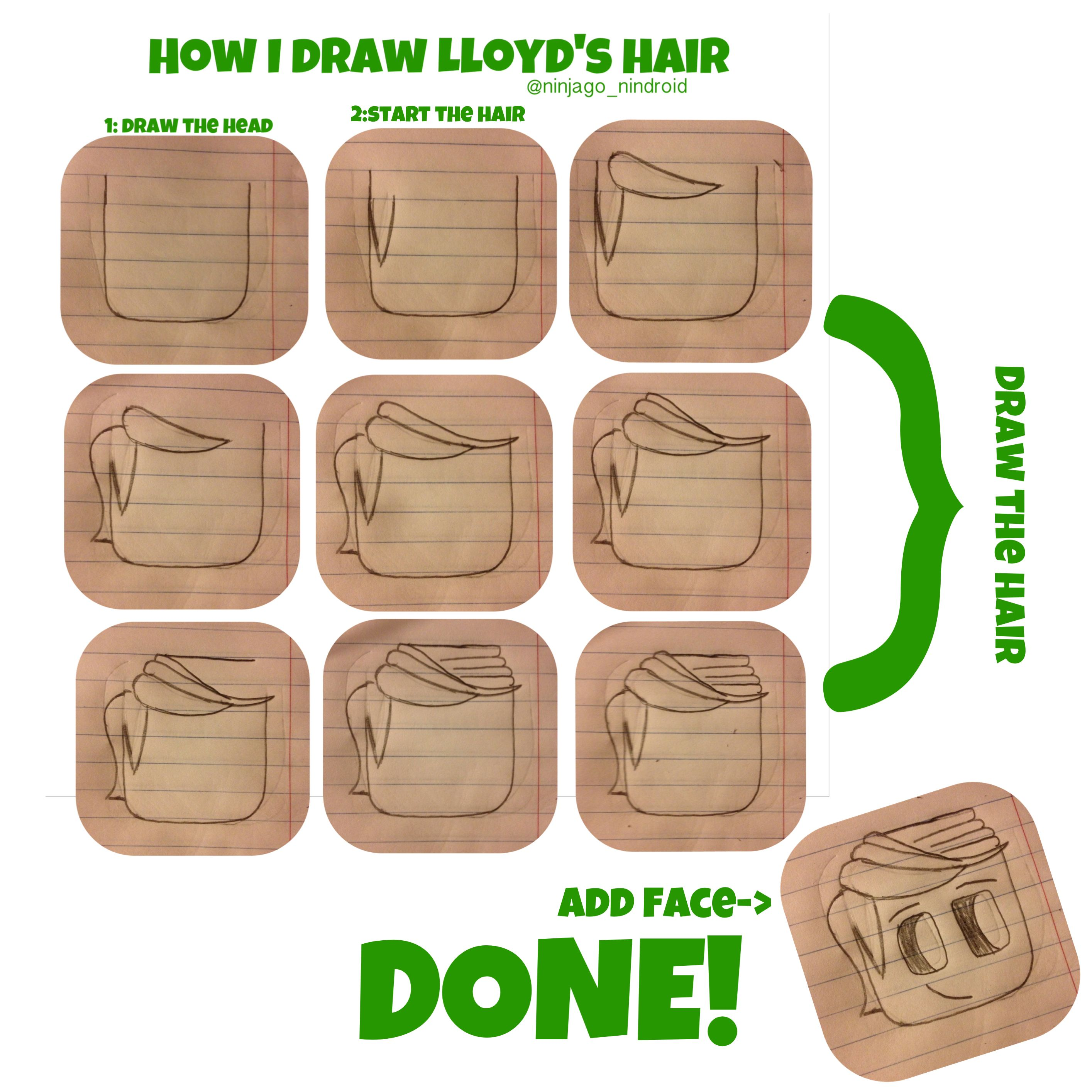 How To Draw Lloyd Garmadon (from Ninjago )
