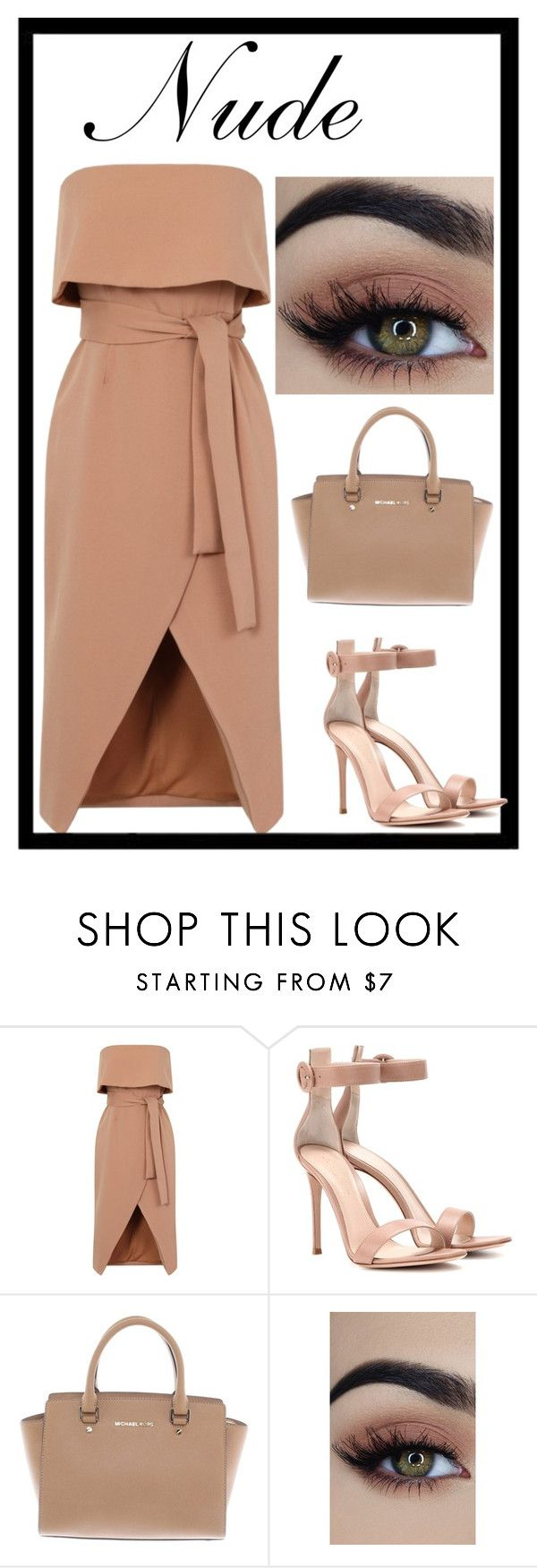 """""""-Nude-"""" by gucci-af ❤ liked on Polyvore featuring Gianvito Rossi, Michael Kors and nude"""