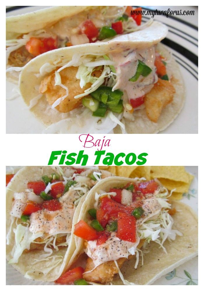 Breaded Fish Tacos With A Creamy Chipotle Sauce My Turn For Us Recipe Fish Tacos Recipes Baja Fish Tacos