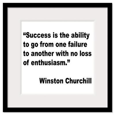 Churchill Success Quote Wall Art Framed Print