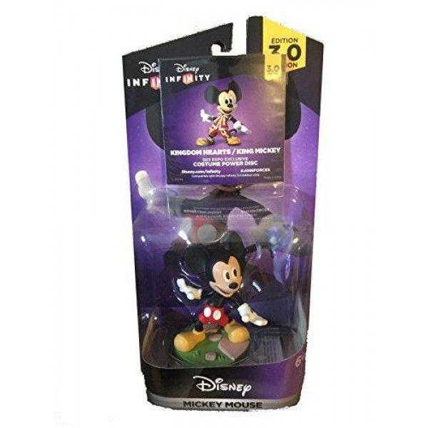 D23 expo 2015 exclusive disney infinity 3.0 kingdom hearts king mickey costume power disc w/ figure