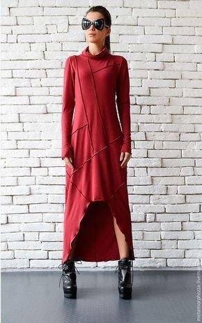 c1c9e797345 Платья ручной работы. Ярмарка Мастеров - ручная работа. Купить БОРДОВОЕ  ПЛАТЬЕ. Handmade. Платье в пол