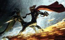 movies thor superheroes marvel comics capes loki marvel asgard comic mjolnir 1920x1080 wallpaper