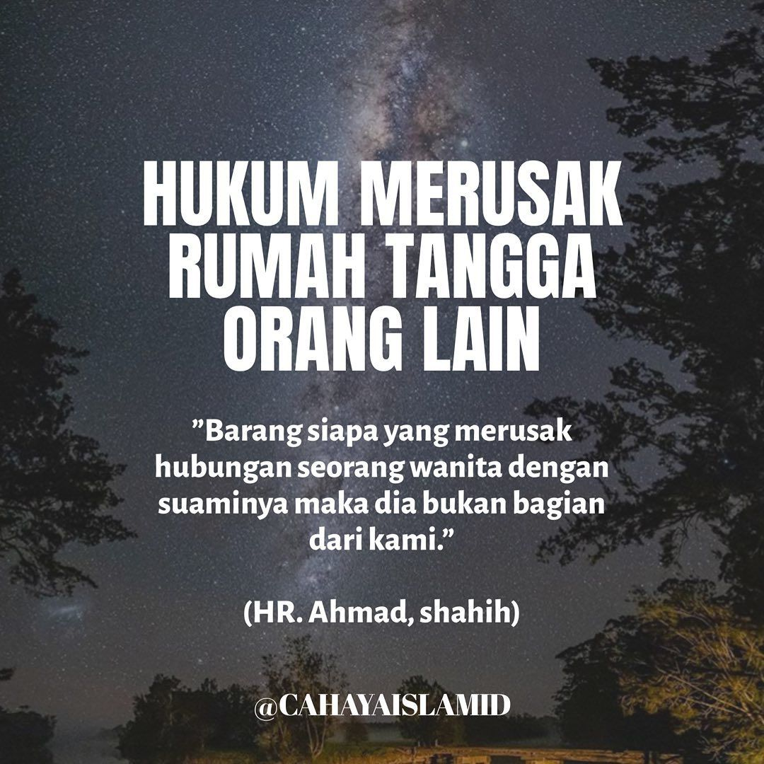 Cahaya Islam Indonesia On Instagram Barang Siapa Yang Merusa