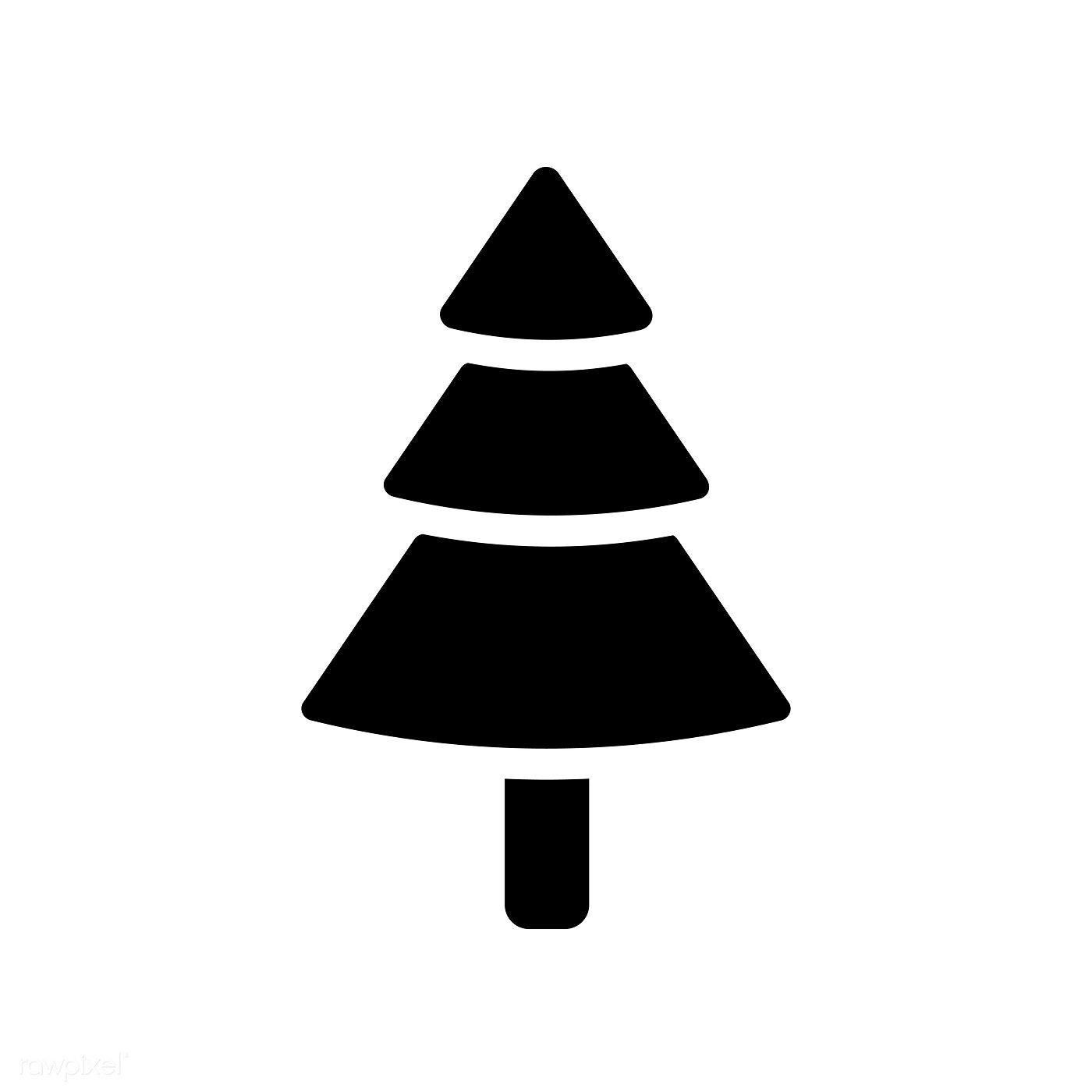 Christmas Tree Icon Decoration Vector Free Image By Rawpixel Com Tree Icon Christmas Icons Christmas Design