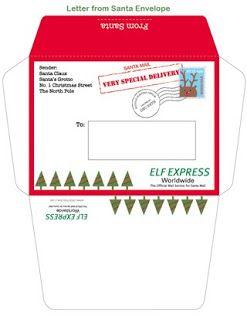 Elf On The Shelf   Printables  Envelopes Elves And Santa