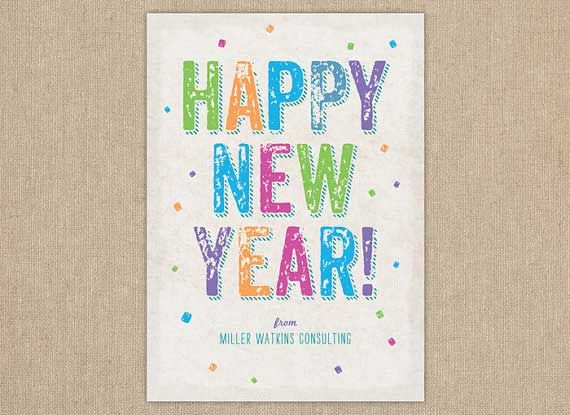 colorful new year cards