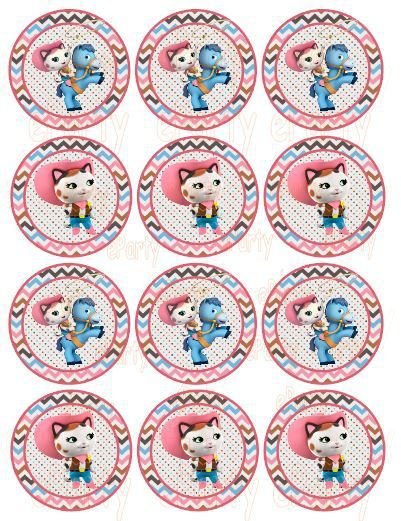 Sheriff Callie Cupcake Topper - Stickers GoPartyFiesta