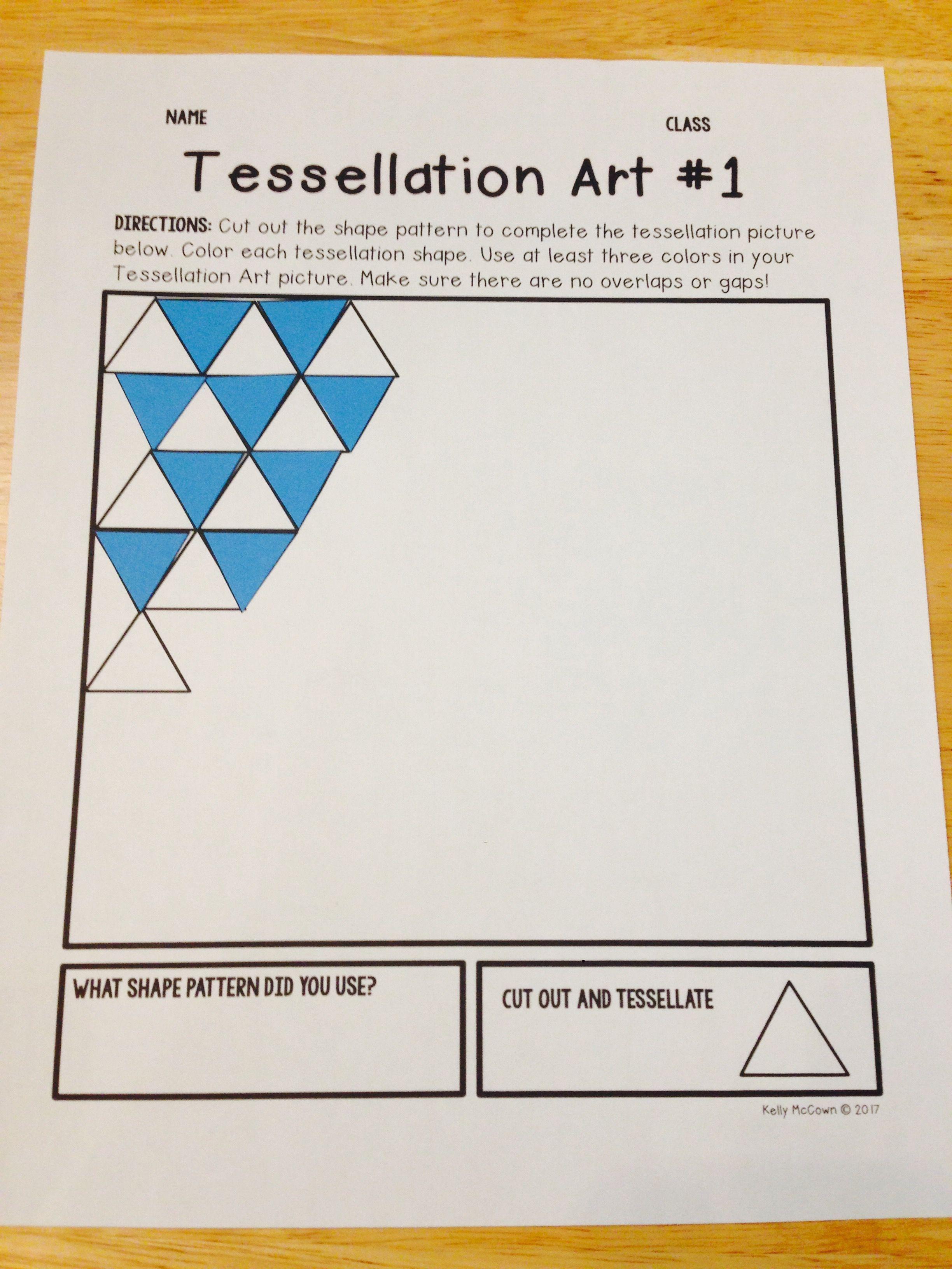 Tessellations Elementary Math Project Math