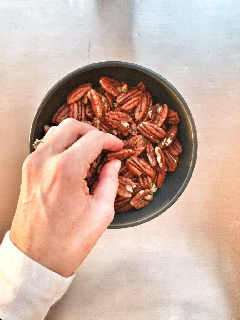 Pecans roasted with rosemary
