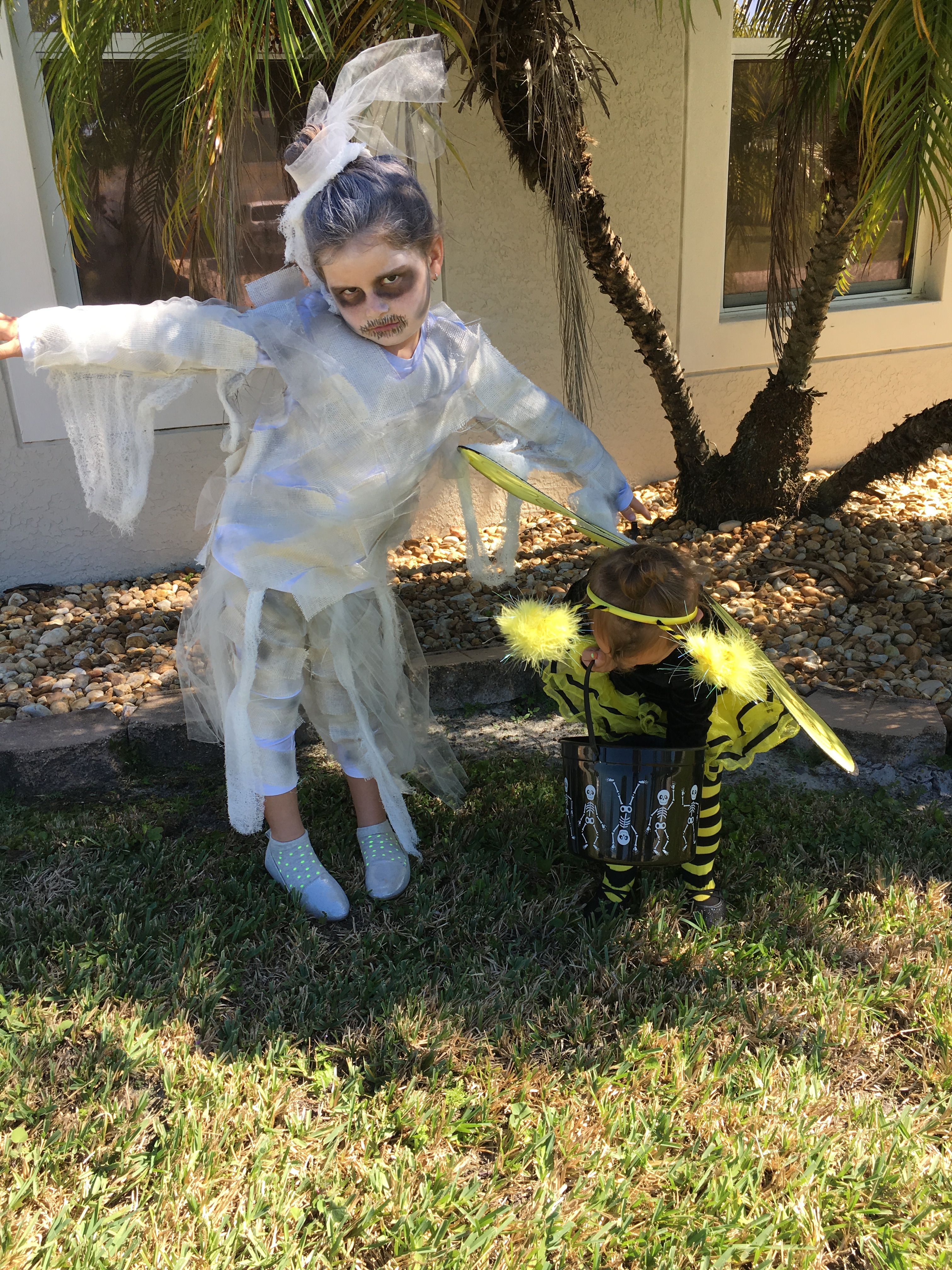Homemade princess mummy costume Flower girl dresses